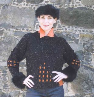 maggie jackson knits ravelry killala sweater with buttoned back fur cuffs