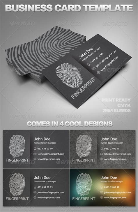 Fingerprinting Card Template by Fingerprint Card Template By Profihouse Graphicriver