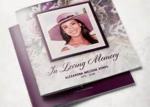 funeral booklet templates purple funeral program template inspiks market