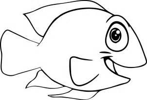 good cartoon fish coloring page sheet wecoloringpage