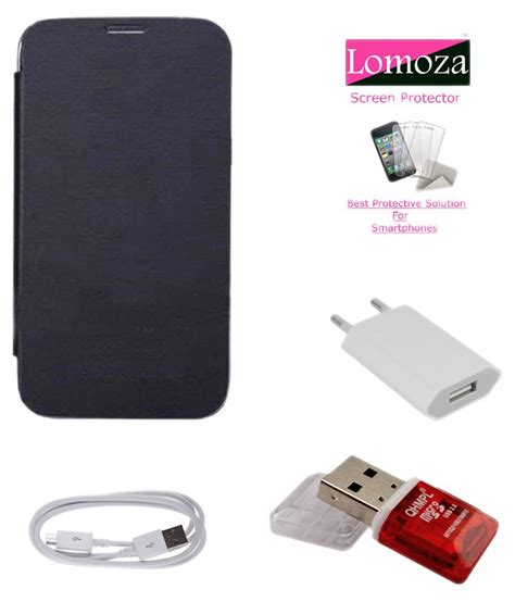 Flip Cover For Sony Xperia C4 lomoza flip cover for sony xperia c4 with data cable