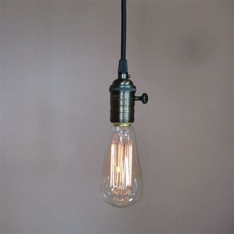 Bare Bulb Pendant Light Bare Bulb Pendant Light Antique Reproduction Cloth Wire Edison Li