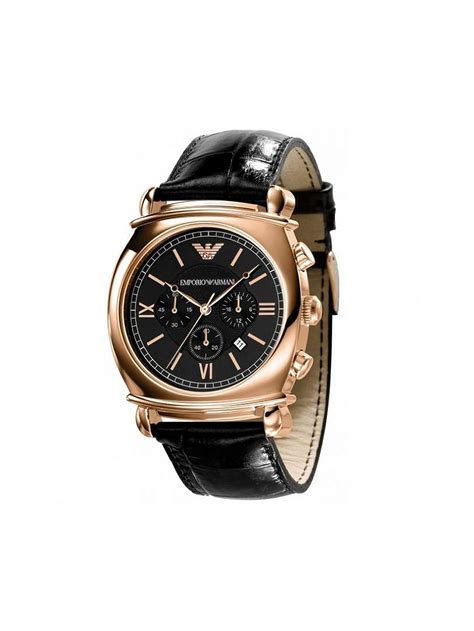 Gc Black Rosegold emporio armani s ar0321 chronograph gold black leather