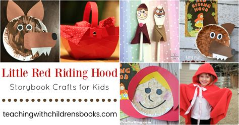 red riding hood crafts teaching  childrens books