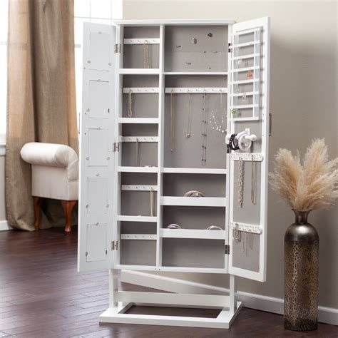 cheval jewelry armoire with mirror floor standing cheval mirror jewelry armoire plans