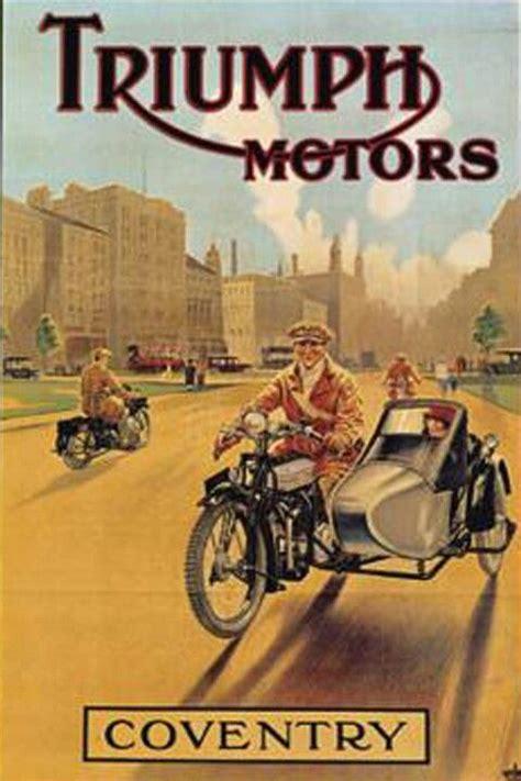 Triumph Motorrad Poster by Triumph Vintage Poster Bike Art Pinterest Motorr 228 Der