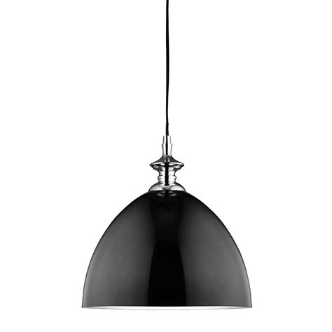 Black Light Pendant 9216bk Dome 1 Light Black Dome Pendant With Silver Inner