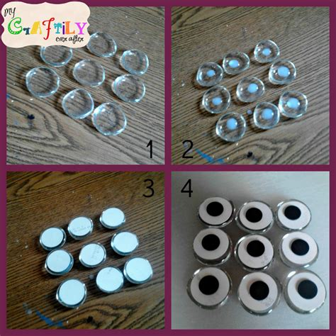 Handmade Fridge Magnets Ideas - glass photo magnet diy my craftily after