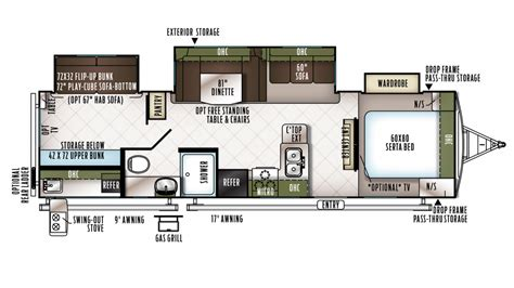 forest river travel trailers floor plans forest river flagstaff v lite 30wrls travel trailer floor