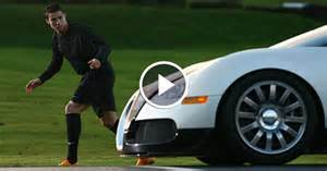 Ronaldo Vs Bugatti Ronaldo Race Against Bugatti Veyron Fastest