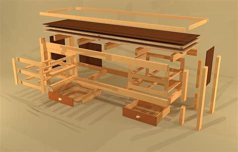 workbench drawer plans  woodworking