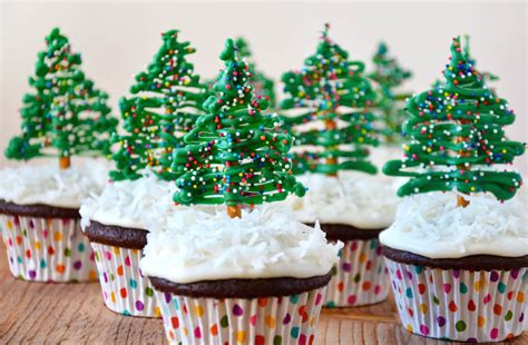 Gingerbread Home Decor by Chocolate Christmas Tree Cupcakes With Cream Cheese
