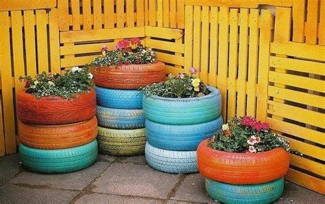 Diy Recycled Planters by Diy Recycled Tire Planters Recycled Things