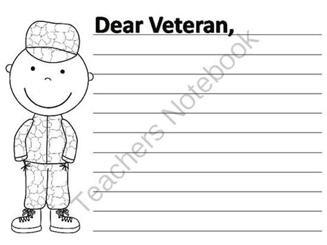 veterans day letter writing paper 17 best images about veterans day on anchor