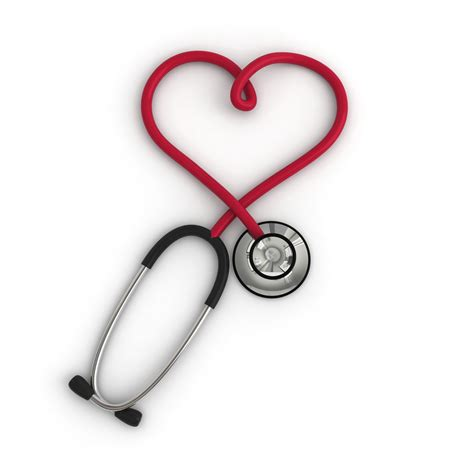 stethoscope forming a heart carp