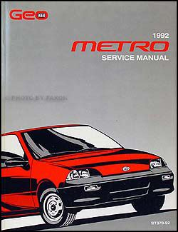 car maintenance manuals 1993 geo metro user handbook 1992 geo metro repair shop manual original