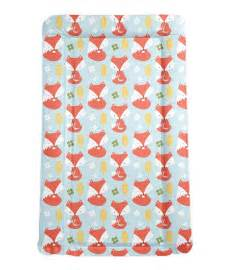 foxes padded baby changing mat