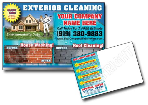 Powerwashing Post Cards Window Cleaning Roof Cleani And Window Cleaning Website Template Webs Power Washing Flyer Templates Free