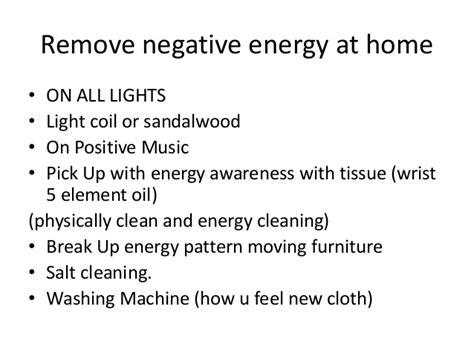 how to find negative energy at home welcome slideshare2016