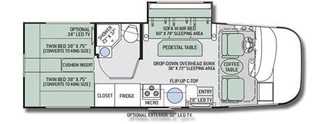 thor rv floor plans thor axis 25 1 motorhome floor plan