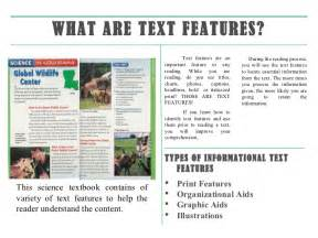 information text features ppt