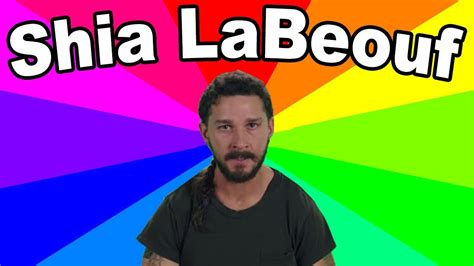 Shia Labeouf Meme - the meaning of he will not divide us a look at the quot art