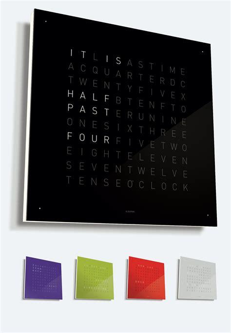 design tischuhr qlocktwo wand und tischuhr 2010 work dot award