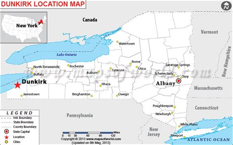 new hshire location usa map where is dunkirk located in new york usa