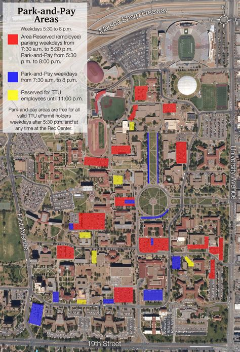 map of texas tech commuter parking transportation parking services ttu