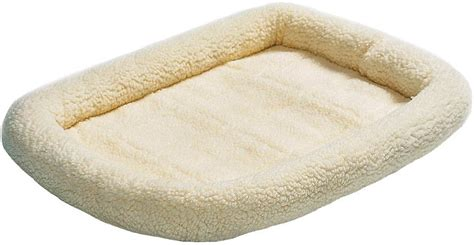 midwest quiet time pet bed midwest quiet time natural fleece pet bed and crate mat