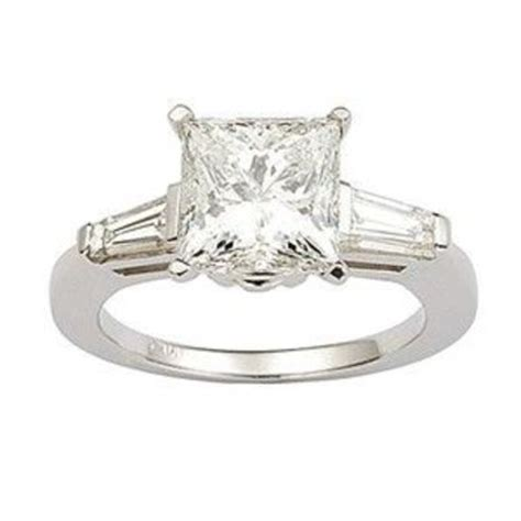 princess cut with baguettes on the sides jewelry