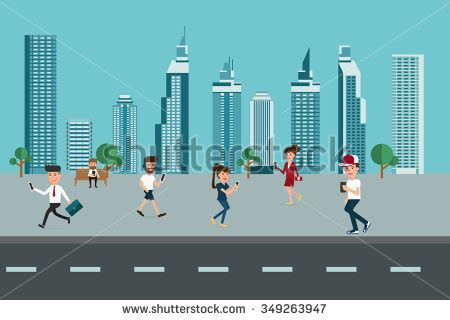 modern lifestyle cartoon city skyline stock images royalty free images