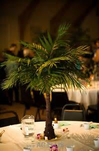 mini tree centerpieces mini palm tree centerpiece great for a themed