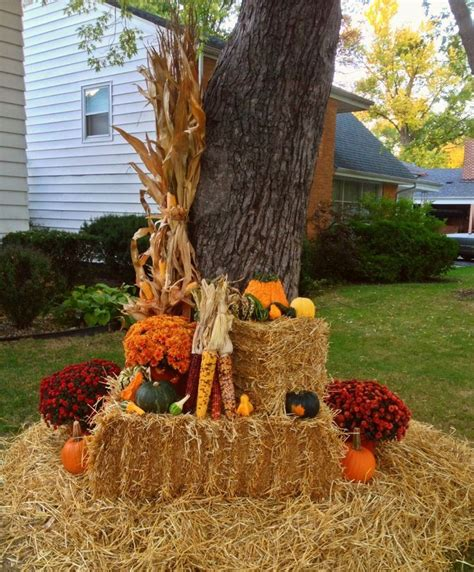 fall hay bale decorating ideas 1972 best decorating for fall images on