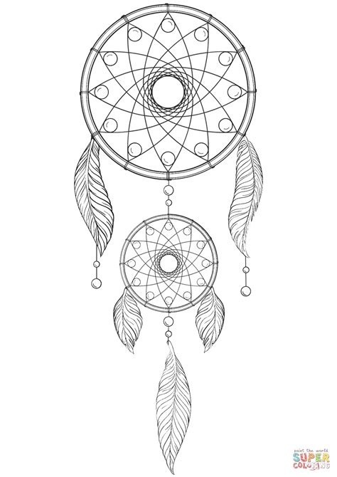 Dreamcatcher Mandala Coloring Pages at GetColorings.com