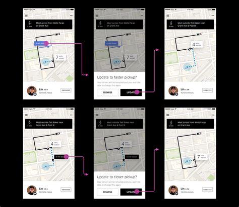 Uber User Experience Design Portfolio Of Simon Pan Uber App Template