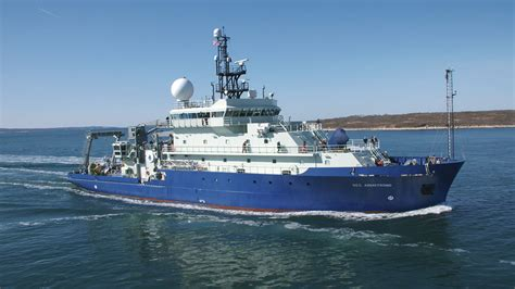 small boat v ship ships woods hole oceanographic institution