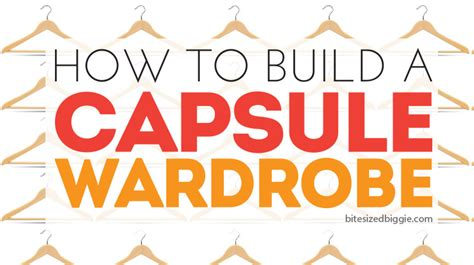 How To Make A Capsule Wardrobe by How To Build Your Own Capsule Wardrobe