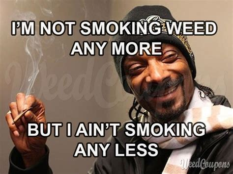 i m not smoking weed anymore but i ain t smoking less