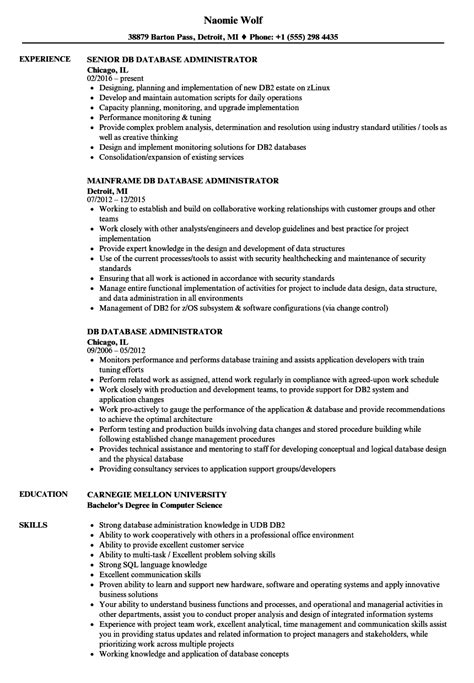 database administrator resume template 15 free sles database administrator resume sle database administrator resume 12 sql server dba system