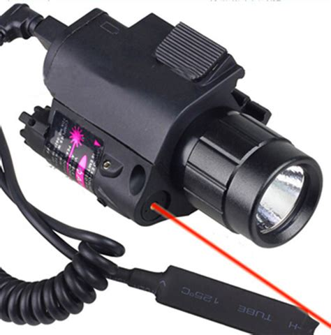 best laser light combo for glock 19 2in1 tactical cree led flashlight light red laser sight