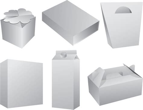 layout packaging vector set of paper packaging box design vector free vector in