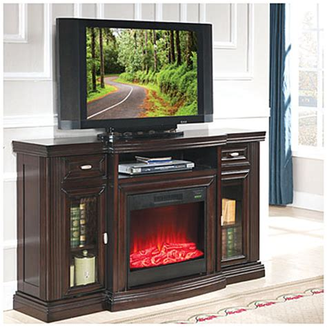 electric fireplace big lots view 60 quot media espresso electric fireplace with glass