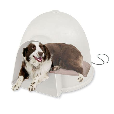 heating pad for igloo dog house large igloo house soft heated dog bed orthopedic pad indoor outdoor warmer mat ebay