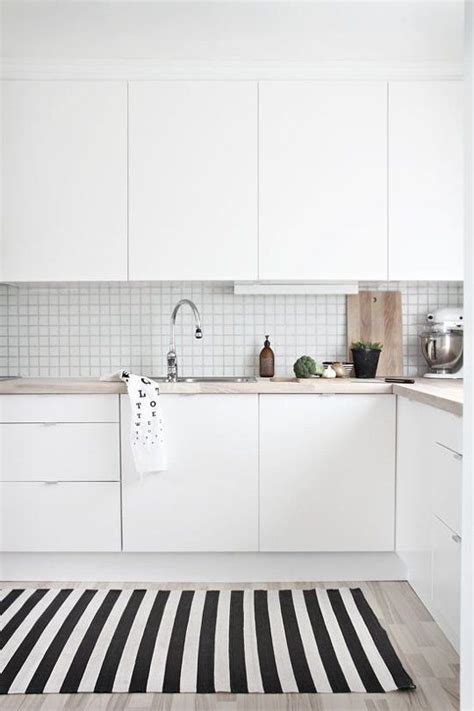 White Kitchen Rugs 25 Best Ideas About White Tile Kitchen On Pinterest White Tiles Kitchen Tiles And White Tile