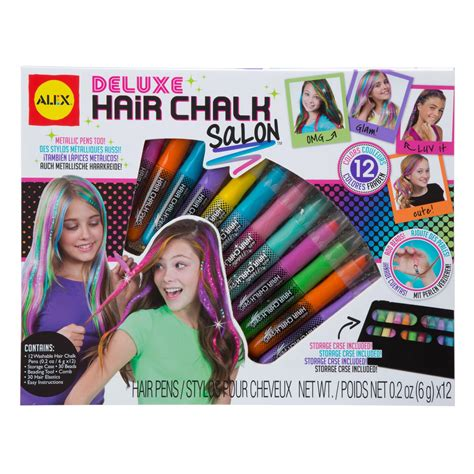 Hair Style Kit Toys R by Alex Toys Spa Deluxe Hair Chalk Salon Craft Kit