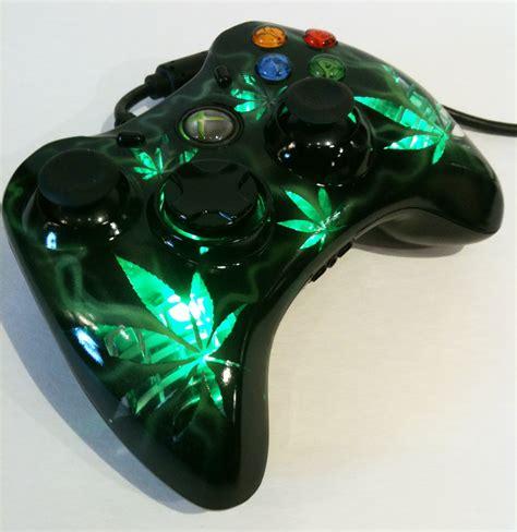 design xbox 360 controller xbox 360 cannabis design controller by chrisfurguson on