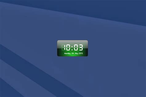 digital clock windows  gadget wingadgets