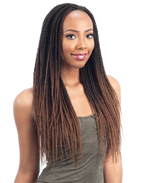 how to braid in prebraided hair pre feathered box braid 20 quot freetress synthetic pre loop