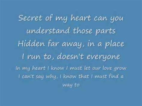 heart pattern lyrics english secret of my heart english lyrics youtube
